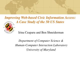 Improving Web-based Civic Information Access: A Case Study of the 50 US States