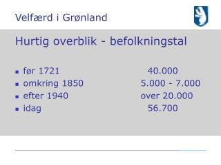 Velfærd i Grønland