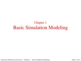 Chapter 1 Basic Simulation Modeling