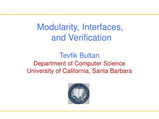Modularity, Interfaces,  and Verification