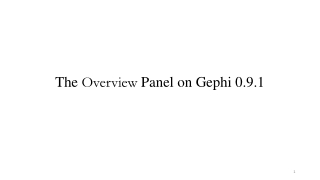 The Overview Panel on Gephi 0.9.1