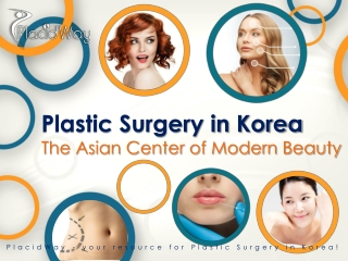Cosmetic Surgery South Korea