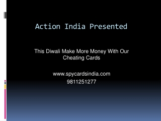 Spy Playing Cheating Cards In Ambala - 9811251277