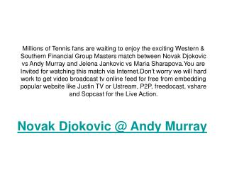 watch full & final (atp) andy murray vs novak djokovic live