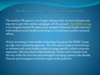 The Best Los Angeles Public Relations Firm