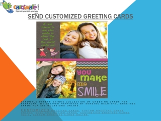 Customized greeting cards