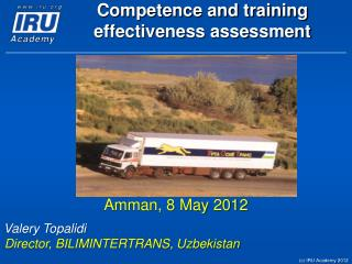 Competence and training effectiveness assessment