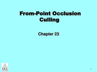 From-Point Occlusion Culling