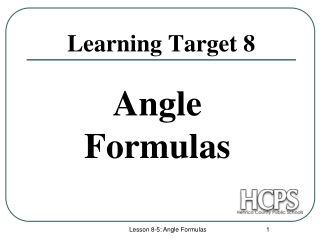 Learning Target 8