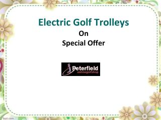 electric golf trolley - special offers