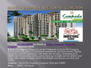 raheja sampada, sector-92, gurgaon, 9810186936, ic