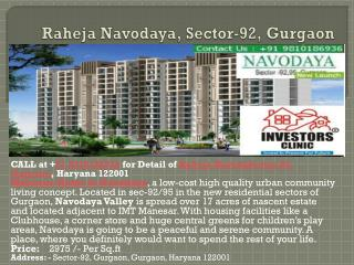 raheja navodaya, sector-92, gurgaon, 9810186936, ic