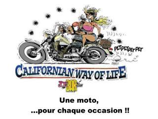Une moto, …pour chaque occasion !!
