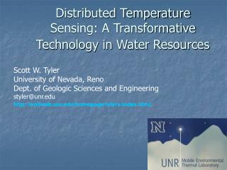 Distributed Temperature Sensing: A Transformative Technology in Water Resources