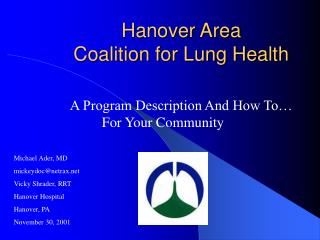 Hanover Area Coalition for Lung Health