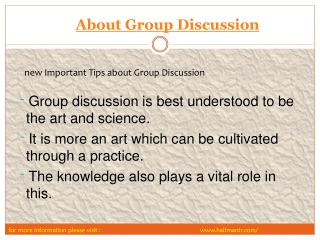 Generate New Ideas through the Group Discussion