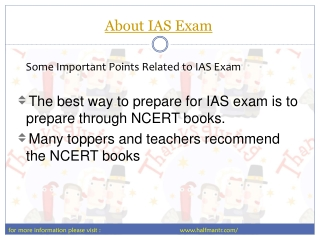 Useful Information about IAS Exam