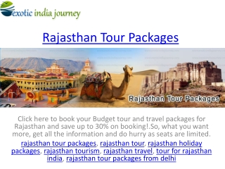 tour for rajasthan india