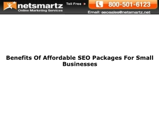 Benefits Of Affordable SEO Packages For Small Businesses
