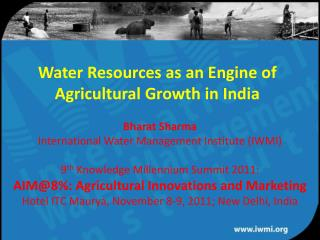 Water Resources as an Engine of Agricultural Growth in India