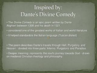 Inspired by: Dante's Divine Comedy
