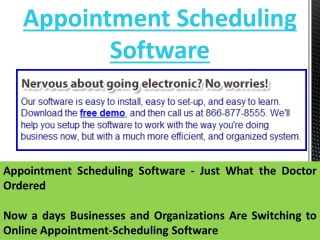 Appointment Book Software