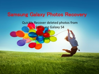 How to recover deleted photos from Samsung Galaxy