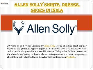 Allen Solly Friday Fashion in India
