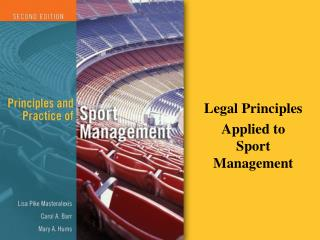 legal principles applied to sport management