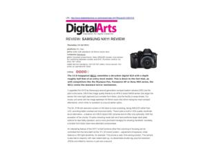 review: samsung nx11 review (digitalarts)