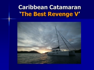 Caribbean Catamaran - The Best Revenge V