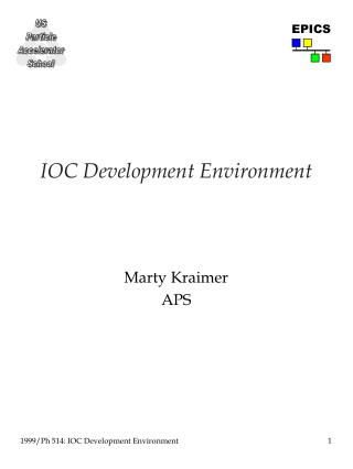 IOC Development Environment