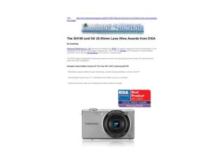 the sh100 and nx 20-50mm lens wins awards from eisa