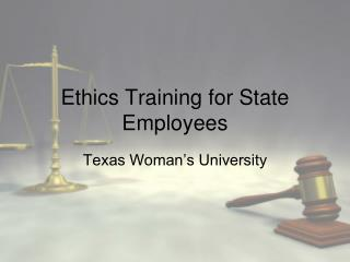 Ethics Training for State Employees