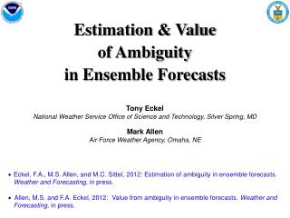 Estimation & Value of Ambiguity in Ensemble Forecasts
