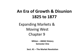 Expanding Markets & Moving West Chapter 9