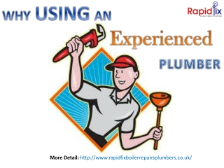 Why Using An Experienced Plumber
