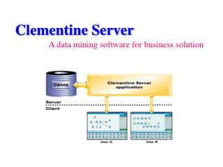 Clementine Server A data mining software for business solution