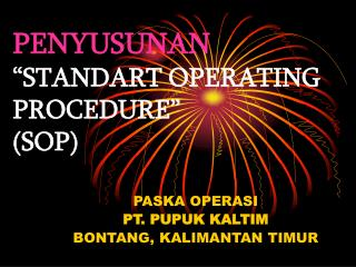 "PENYUSUNAN ""STANDART OPERATING PROCEDURE"" (SOP)"