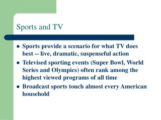Sports and TV