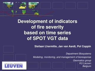 Development of indicators of fire severity based on time series of SPOT VGT data