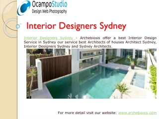 Find best Architects and Interior Designers Sydney in AU