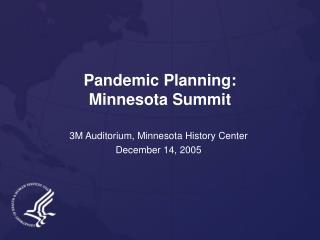 Pandemic Planning: Minnesota Summit