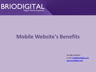 Mobile Website's Benefits