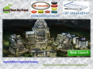 Assured Return Property in Gurgaon | New Projects