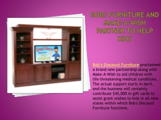 Bobs Furniture and Make-A-Wish partner to help kids