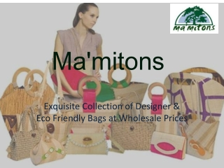 Eco Friendly Handbags for Women