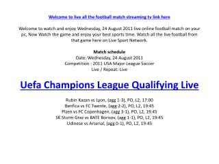welcome to live all the football match streaming tv link her