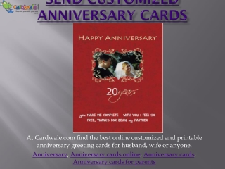Send Customized anniversary cards
