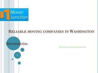 Reliable moving companies in Washington